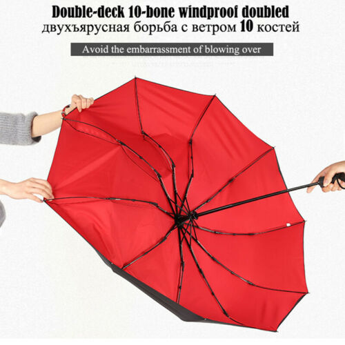 Double layer Windproof Fully-automatic Umbrella Commercial Large Durable Para WS