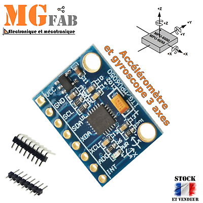 I2C GY-521MPU-6050 MPU6050 3 Axe analogique Gyroscope Capteurs 3 axes Accéléromètre
