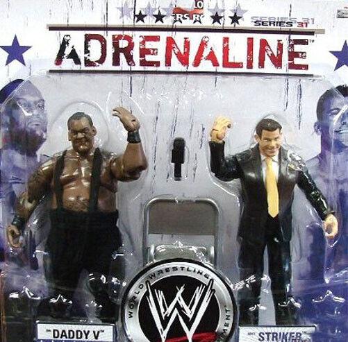 WWF WWE TNA Jakks Battle Pack BIG DADDY V & STRYKER 2 figure toy set RARE