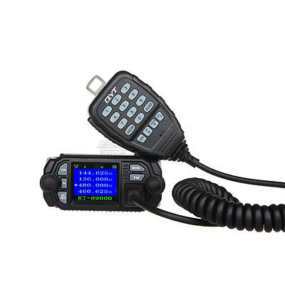 QYT KT-8900D Dual Band 25W VHF UHF LCD Color Screen Car Mobile Radio Transceiver