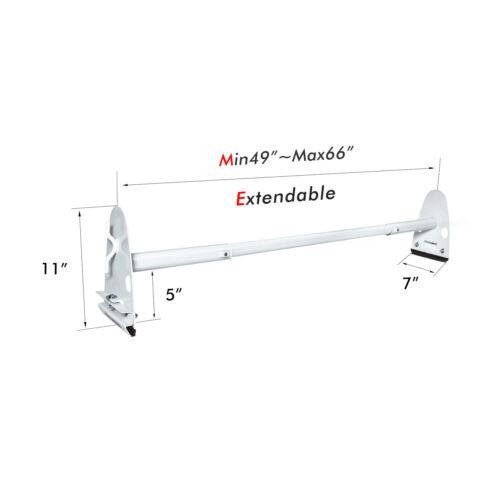 Car Rooftop Rack Van Roof Ladder Rack 2 Bar Steel White For FORD CHEVY DODGE