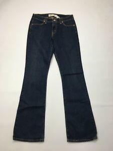 Damen-Levi-525-034-Bootcut-034-Jeans-W30-L34-Dunkelblau-Waschung-super-Zustand