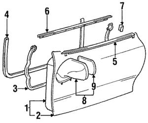Genuine Toyota 87940-1B150-B1 Rear View Mirror Assembly