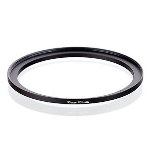 Camera 95mm Lens to 105mm Accessory Step Up Adapter Ring 95mm-105mm Black