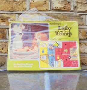 Walt-Disney-Lady-amp-The-Tramp-The-Movie-Board-Game-1955-Vintage-Antique-Rare-NEW
