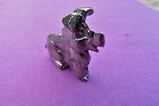 Hog Pig Pewter Figurine.