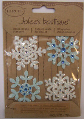 Embellished Snowflakes Jolees Boutique Dimensional Stickers