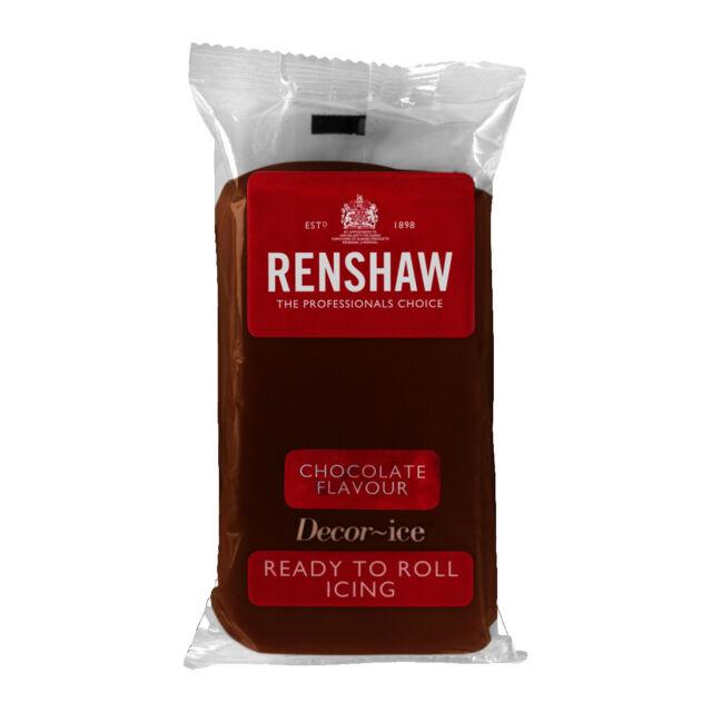 Renshaw Ready Roll Icing Fondant Cake Regalice Sugarpaste 250g CHOCOLATE FLAVOUR