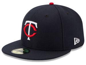 2e6b3d5dbf42 New Era Minnesota Twins HOME 59Fifty Fitted Hat (Navy) MLB Cap | eBay
