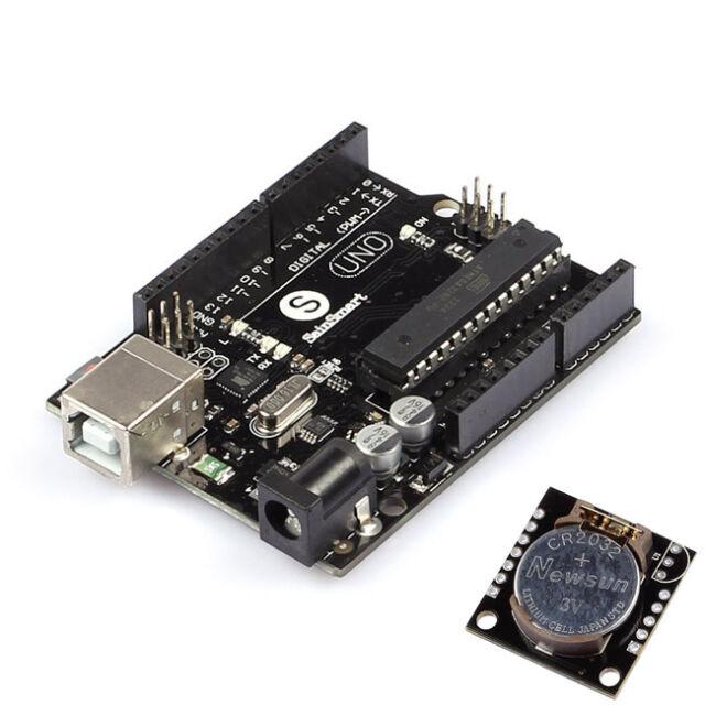 UNO R3 ATmega328P ATmega16U2 + DS1307 AT24C32 Real Time Clock Model  for Arduino