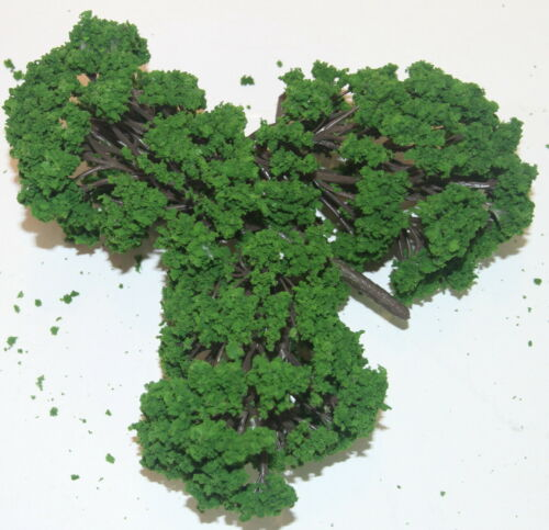 Piste h0 article neuf trois Grand feuillus Longueur 180 mm-dunkeles Vert