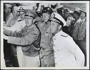 General-Patton-1943-Planning-Invasion-of-Sicily-WWII-Type-1-Original-Photo