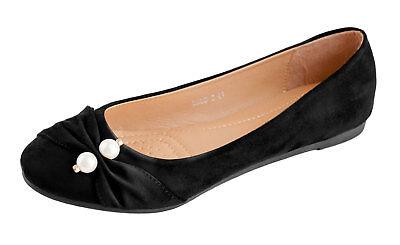 Ballerines Femme Chaussures Ville Ornées De Perles Grande Pointure 41 42 43 44 | eBay