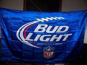 Bud Light Beer Nfl Football Flag New Never Displayed