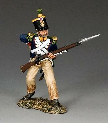 KING&COUNTRY FRENCH VOLTIGEUR ADVANCING LOADING NA279 MILITARY 1.30 scale metal