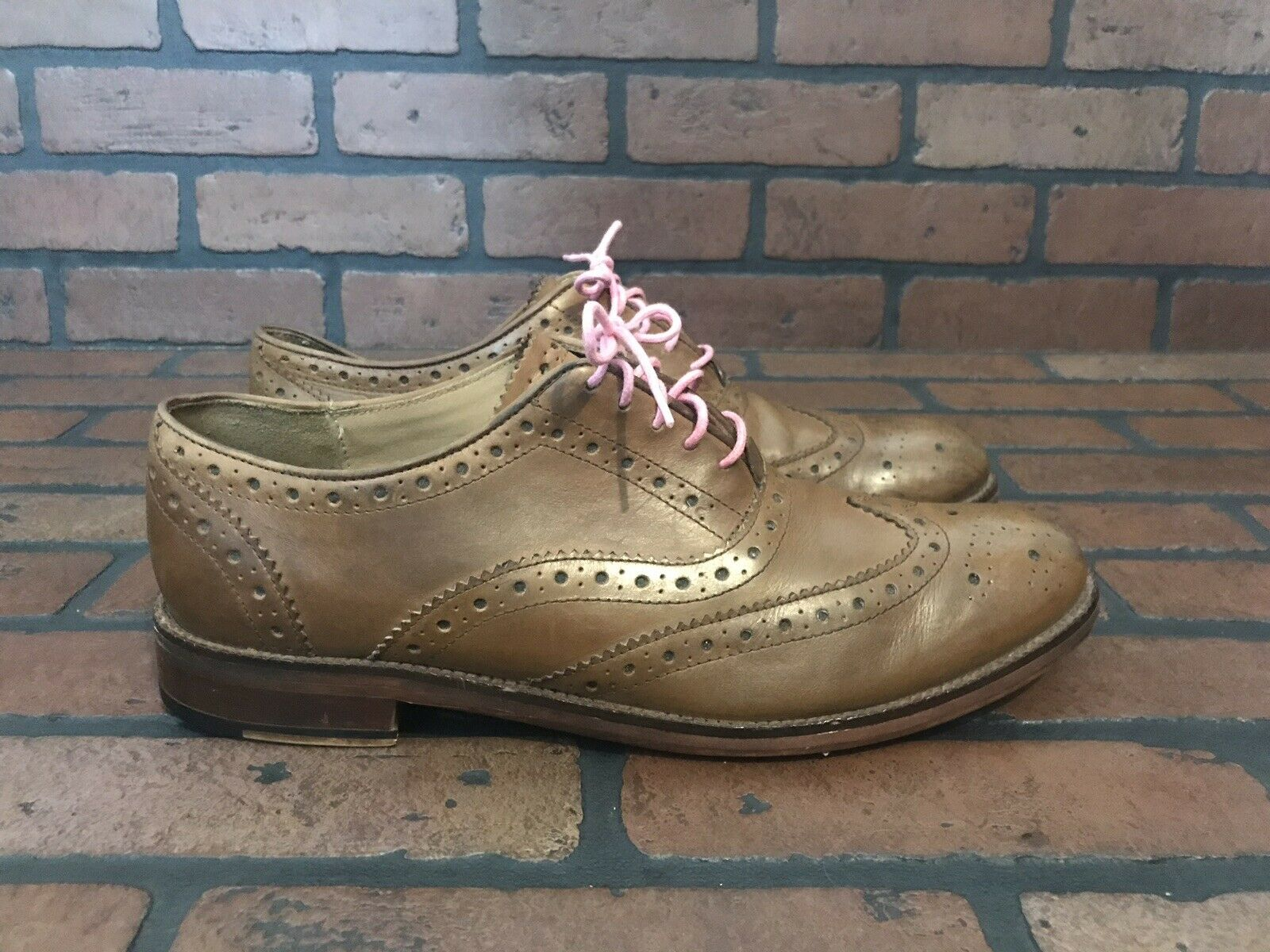 Ben Sherman Wingtip Oxford Cedar Brown Leather Size 12 (45)