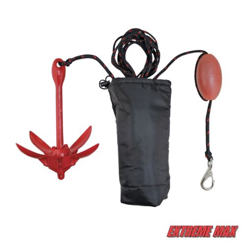 Marker B... Extreme Max 3006.6548 BoatTector Complete PWC Anchor Kit with Rope