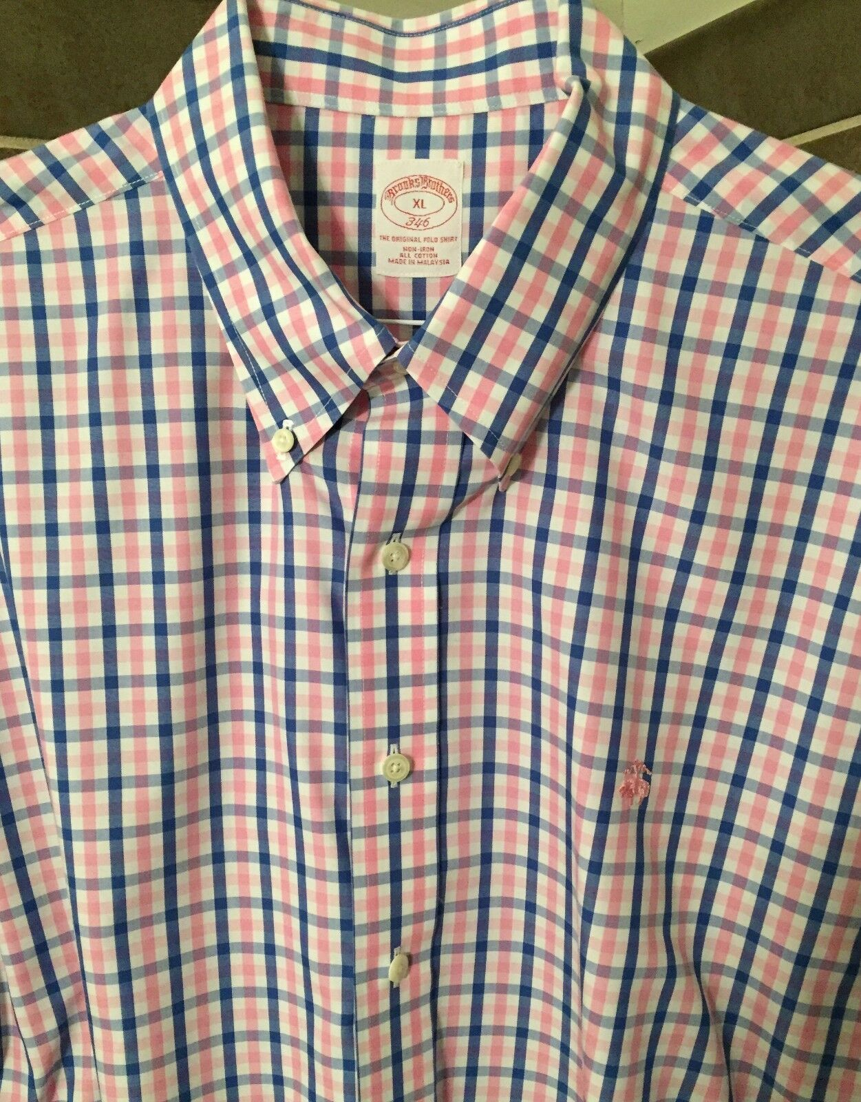 Brand New, Men's Brooks Bredhers, Non-Iron, Button Down, Dress Shirt - XL -