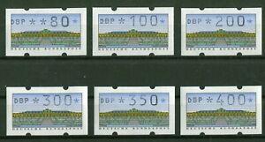 Bund-ATM-2-1-1-VS-1-postfrisch-Automatenmarken-BRD-1993-alle-6-Werte-SANSSOUCI