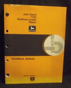 JOHN DEERE JD  710C Backhoe Loader Technical Repair Manual TM1451, ORIGINAL 1988
