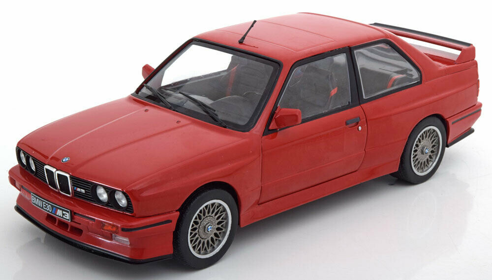 1 18 BMW E30 M3 1990 Red Diecast Model Car By Solido