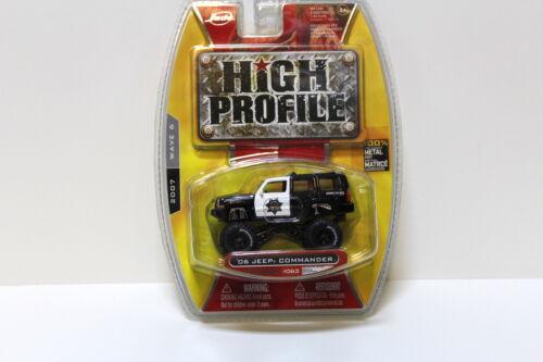 1:64 jada Toys Jeep Commander Black 2006 high profile New en Premium-modelcars