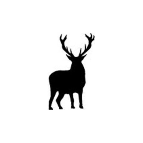 Autocollant Cerf animal stickers adhesif foret logo 2 blanc 17 cm
