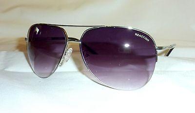 Kenneth Cole Reaction KCR1098 Unisex/Men's Aviator Sunglasses 10B SILVER-TONE