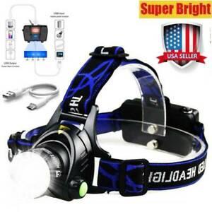 SuperBright LED 990000Lumens Headlamp Headlight Flashlight Head Torch Camp US