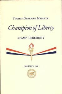 1147-48-C1-First-Day-Ceremony-Program-4c-amp-8c-Thomas-Masaryk-Credo