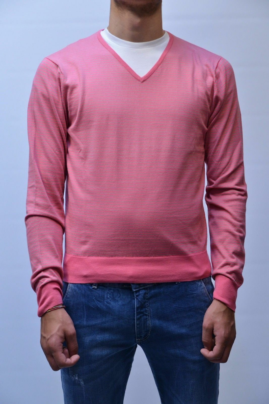 MAGLIA BECOME  - 50% hommes chandail JERSEY 529039 RIGHE2 MIS.54 PP