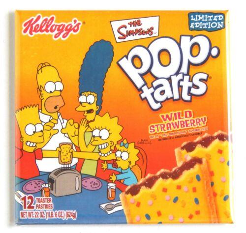 The Simpsons Pop Tarts FRIDGE MAGNET sign box