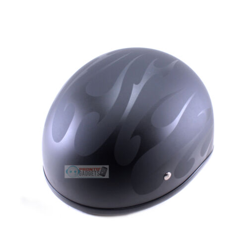 Fulmer Motorcycle Helmet 5R0 Stealth Ranger Half-Top Plush Inside Black Flame