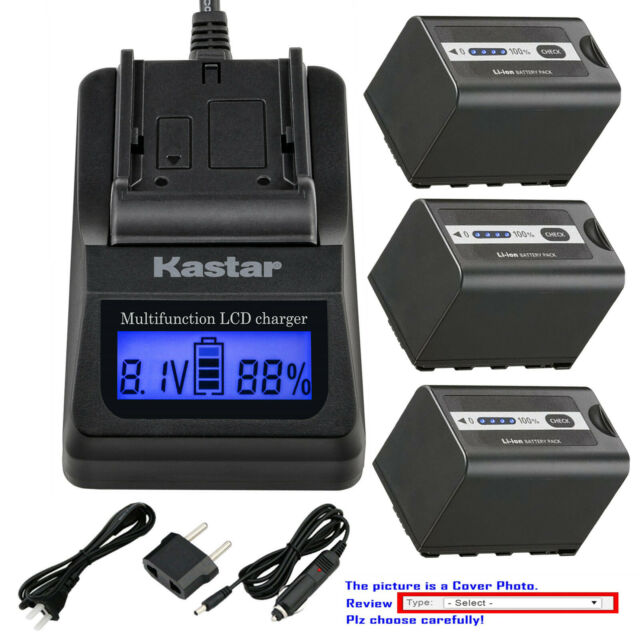 Kastar Battery LCD Fast Charger for Sony NP-FM500H & Sony