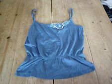Really Lovely MARC JACOBS Dusty Blue Jersey Camisole Vest TOP, SMALL