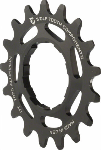 """17T Compatible with3//32/"""" chains Wolf Tooth Single Speed Aluminum Cog"""