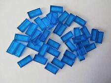 LEGO CITY  40 Fliesen 30070 in transparent blau / blue 1x2 Noppen  NEU