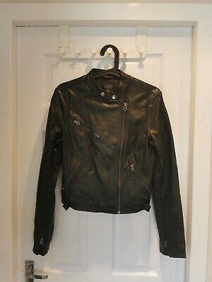 "BNWT M/&S Black FAUX LEATHER Belted SHACKET Jacket Sz 14 L31"" POCKETS RRP £55"