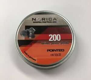 Norica-PREMIUM-Pointed-Air-Gun-Pellets-5-5mm-22-Cal-Qty-200-Free-P-amp-P