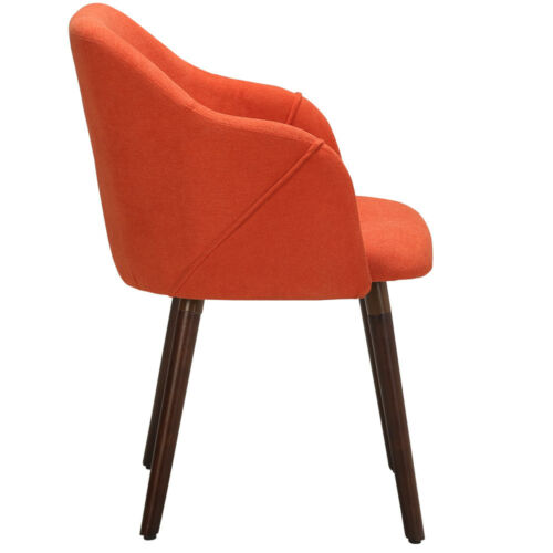1//2x Scandi Dining Chairs Kitchen Lounge Seat with Armrest Oak Legs Fabric Chair
