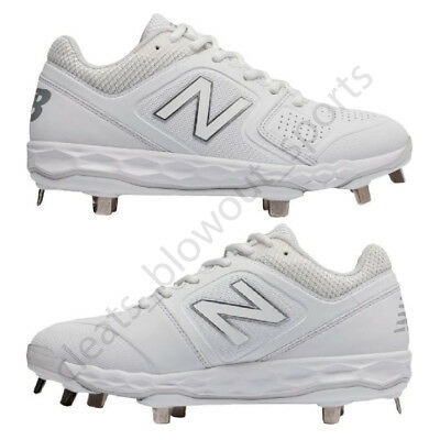 8c5c239b5e796 2019 New Balance Velo 1 Women's Metal Softball Cleats Ladies Fastpitch All  White | eBay