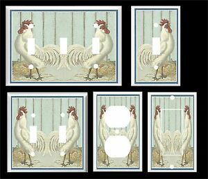 Image Is Loading Vintage White Rooster Country Kitchen Light Switch Cover