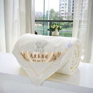 100-Mulberry-Silk-Filled-Comforter-Quilt-Duvet-Coverlet-Blanket-Doona-Bedding