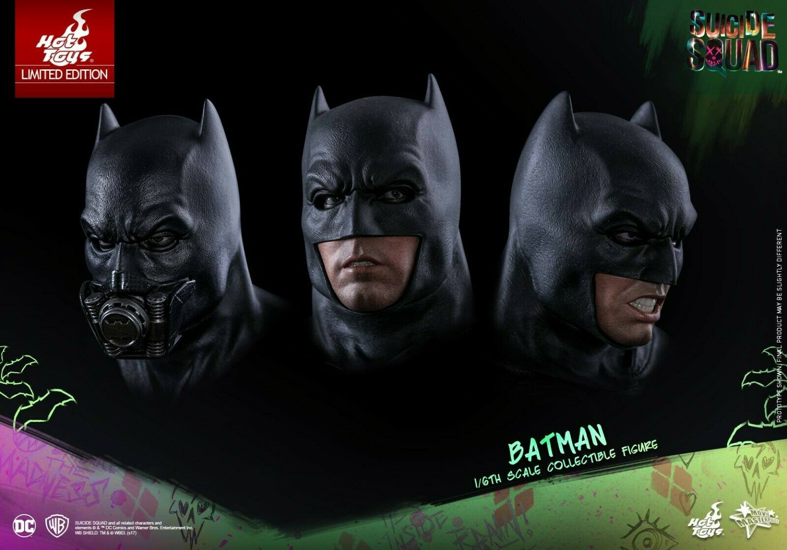 Hot Toys Batman SUICIDE SQUAD MMS 409 1 6 schaal GRATIS scheepvaart