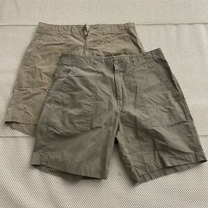 LOT-OF-2-Polo-Ralph-Lauren-34-x-8-034-Beige-Khaki-Flap-Pocket-Chino-Shorts