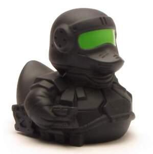 Badeente-Cyber-Krieger-Quietscheente-Quietscheentchen-Gummiente-Plastikente-Ente