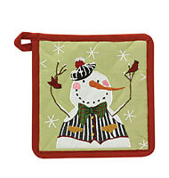 Pot Holder - Winter Buddies By Park Designs - Red White Green - Christmas