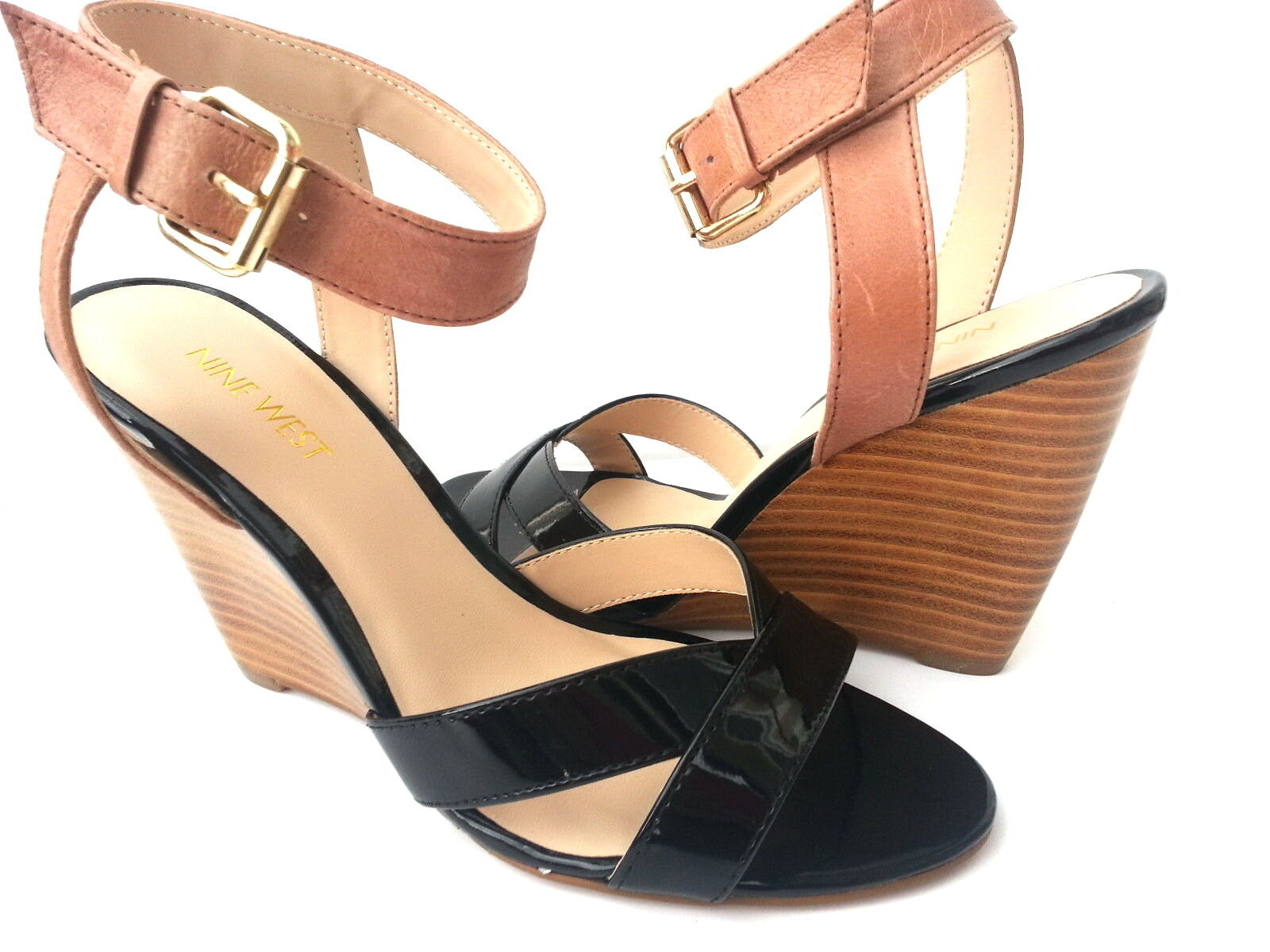 New Nine West Women's Wedge Leather shoes