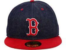 Boston Red Sox New Era MLB Team Color Denim 59FIFTY Hat - 7 5/8