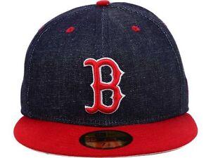 4dbc119b7f870 Boston Red Sox New Era MLB Team Color Denim 59FIFTY Hat - 7 3 8